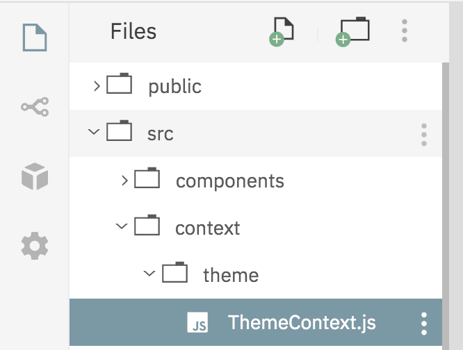 React context folder structure image