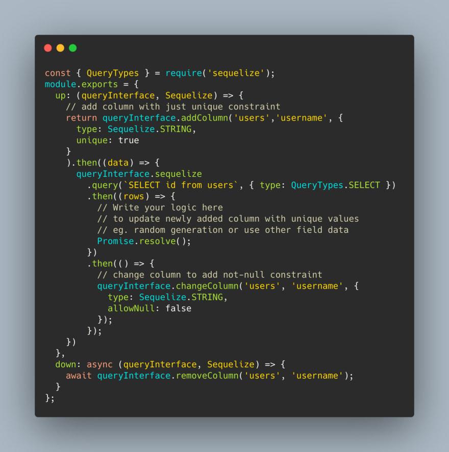 migration pseudo code