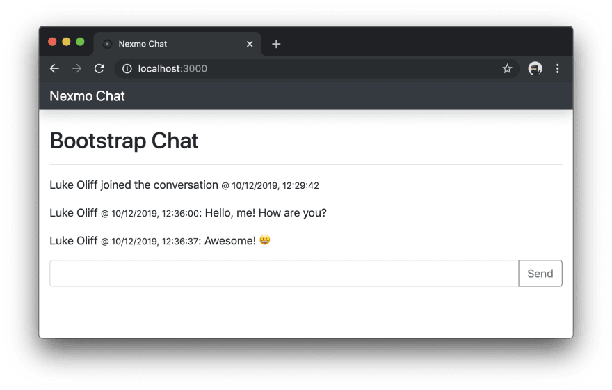 Fixed header margins in chat application