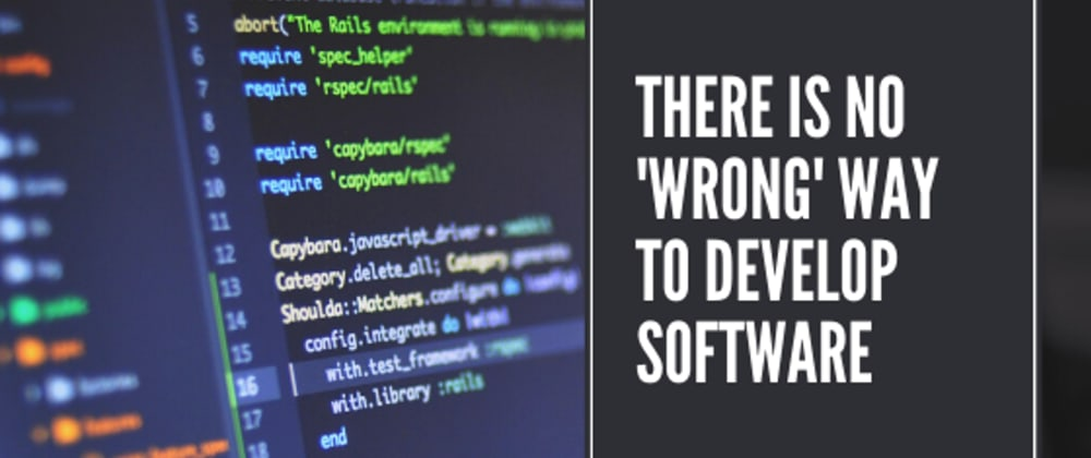Cover image for There is no 'wrong' way to develop software | Amoenus Dev