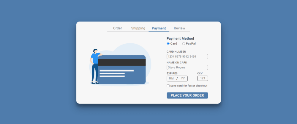 Cover image for DailyUI #002 - Credit Card Payment (CodePen)