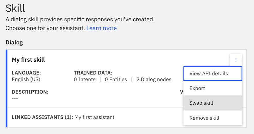 Assistant skill swap