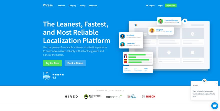 Phrase.com Homepage