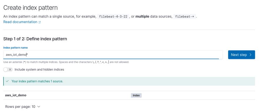 ES Create Index Pattern