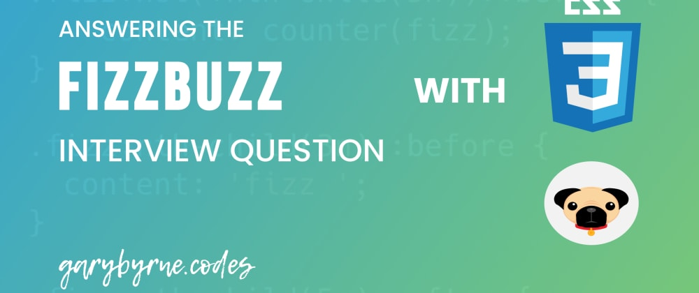 Cover image for Fizzbuzz with CSS and Pug