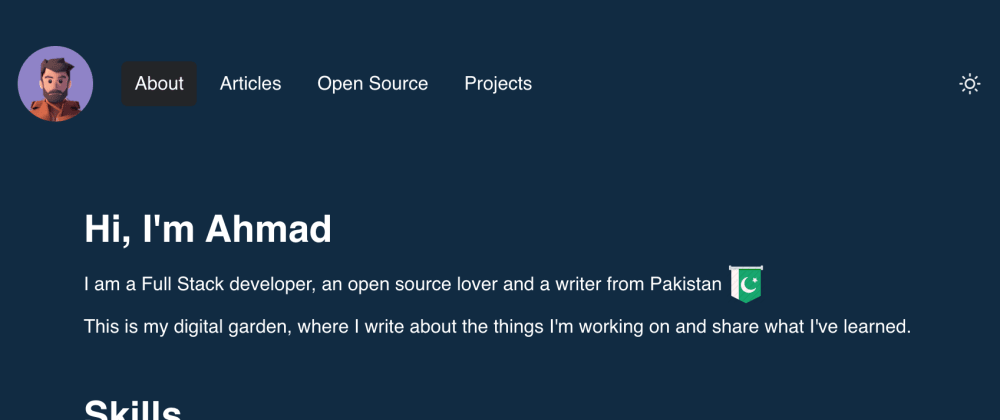 Cover image for Built Portfolio website with React and ChakraUi