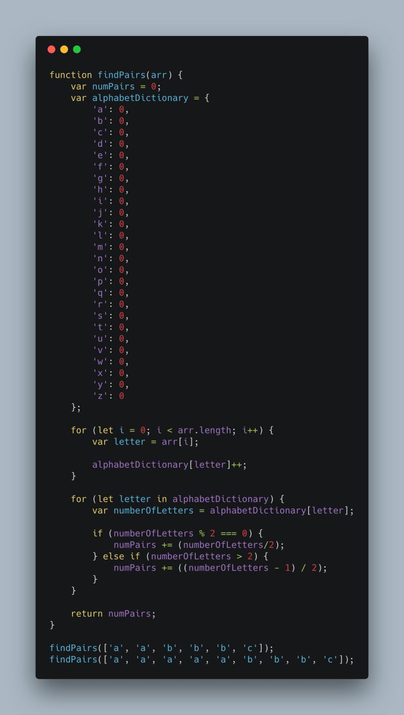 Coding example 1