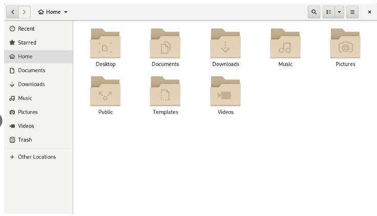 default GNOME UI