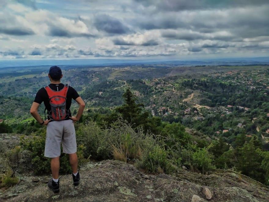 Team member exploring trekking as a physical activity