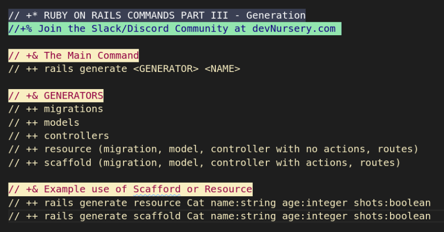 Rails Commands Part III