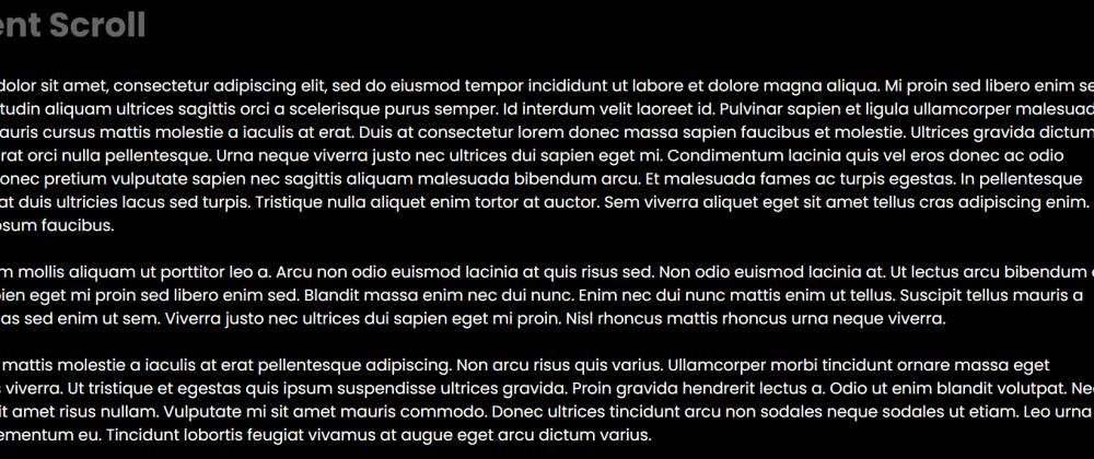 Gradient Custom Scroll Using HTML & CSS