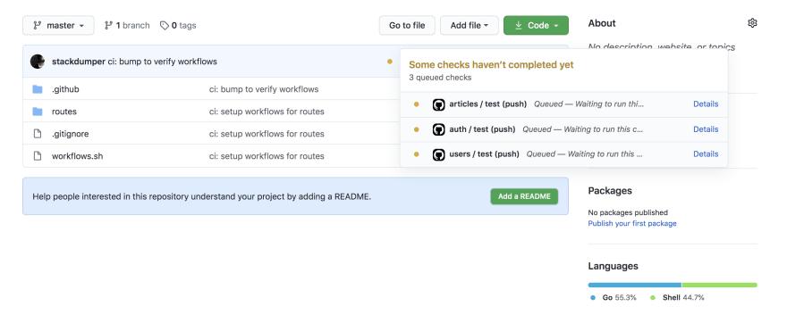 Workflows are starting running