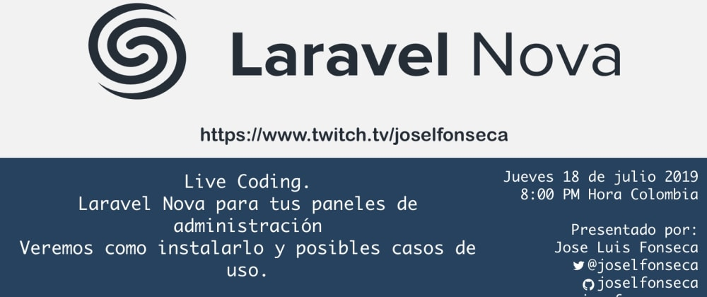 Cover image for Laravel Nova – Live Coding