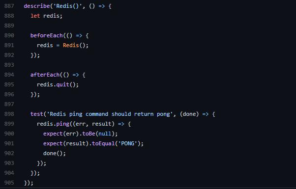 Redis test code