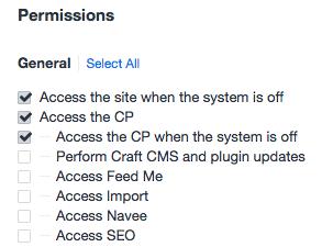 Craft Offline Access Permissions