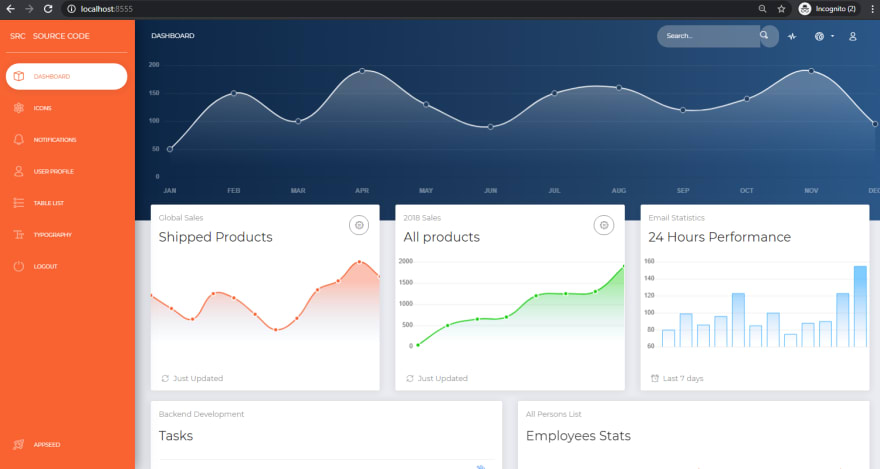 Django Dashboard NowUI - Open-Source Web App.