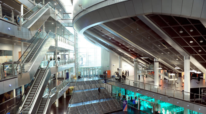Picture of the inside of Millennium Point in Birmingham