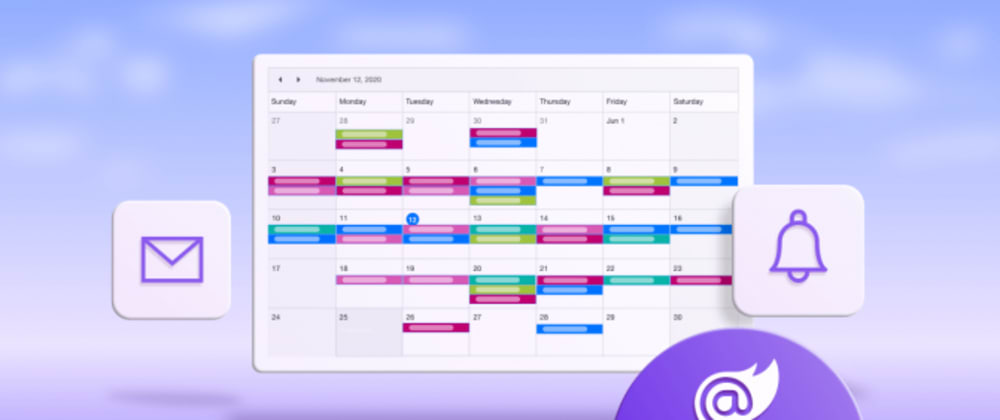 Cover image for How to Send Emails and Reminders for Events in Blazor Scheduler