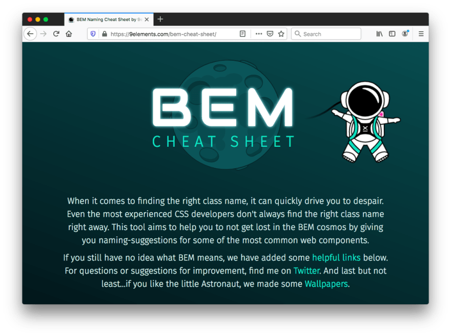 BEM Naming Cheat Sheet