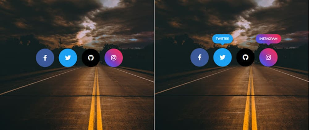 Cover image for Social media icons HTML and CSS