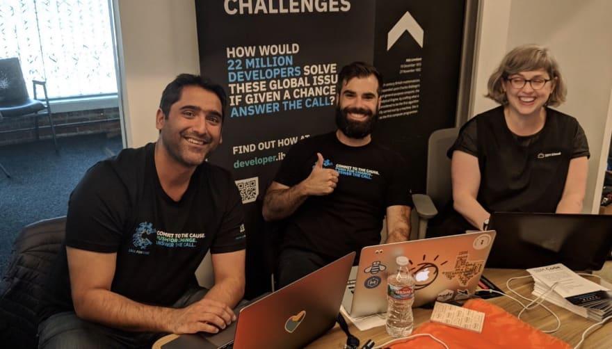 Upkar at a hackathon