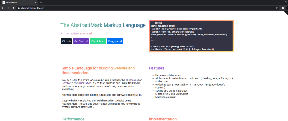 Cover image for Development Progress of AbstractMark, the modern markup language