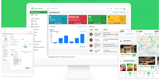 Grocery, Food, Pharmacy, Store Delivery Mobile App with Admin Panel.