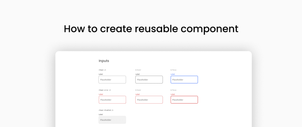 Cover image for An Introduction to Reusable Components and how to create Typography Component