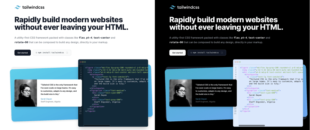 Cover image for How I built the dark mode of tailwindcss.com (website + docs) in 10 minutes using Nightwind & Next.js