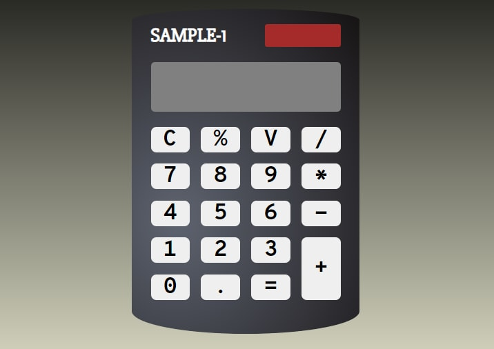 Calculator with shape and background
