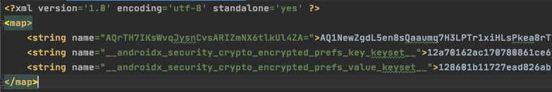 Encrypted Android Settings
