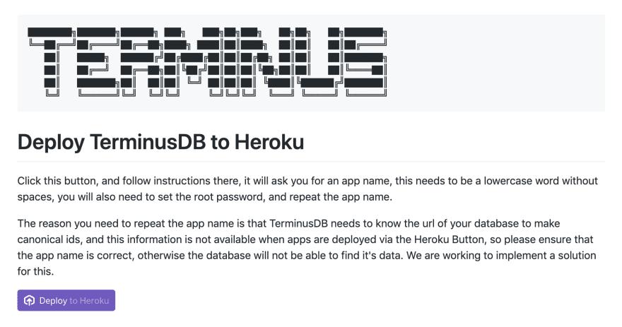GitHub repo: terminusdb/terminus-heroku