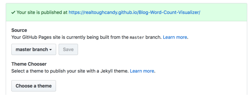 GitHub pages step 4