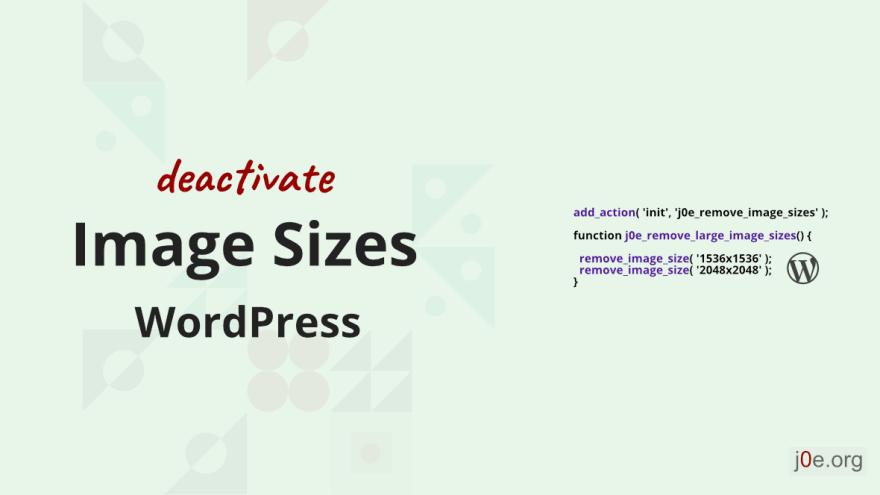 So entfernst du ungewollte Bildergrößen in WordPress
