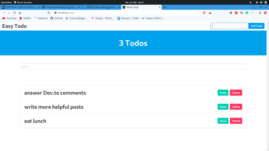 Added some todos