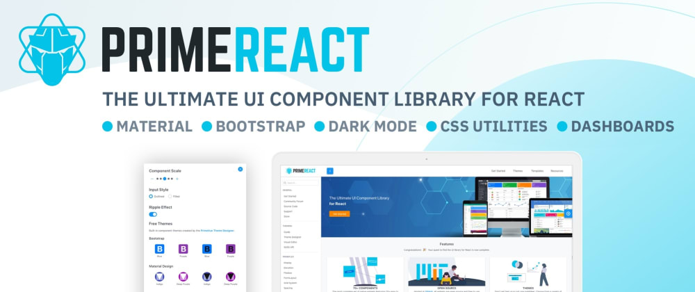 Cover image for PrimeReact vs Material-UI vs Ant vs Chakra-UI vs ReactBootstrap