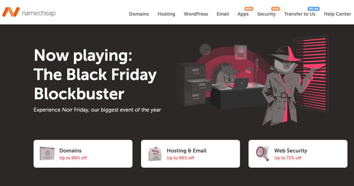 Namecheap Black Friday 2020