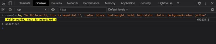 console log colors