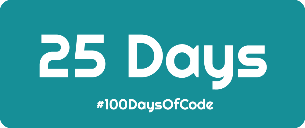 Cover image for #100DaysOfCode - First Quarter Finished