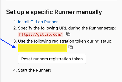 steps for register in gitlab