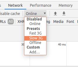 Network tab options