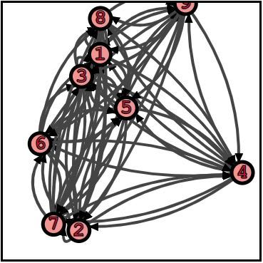 A complete directed Graph