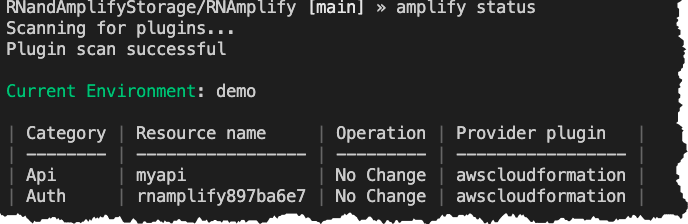 Amplify status