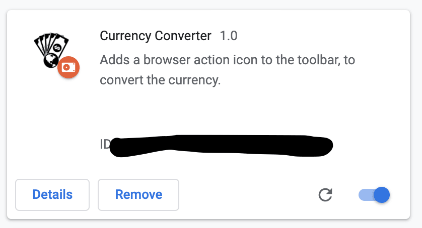 Currency Converter Extension - Chrome