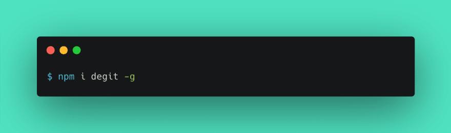 Installing DeGit npm package