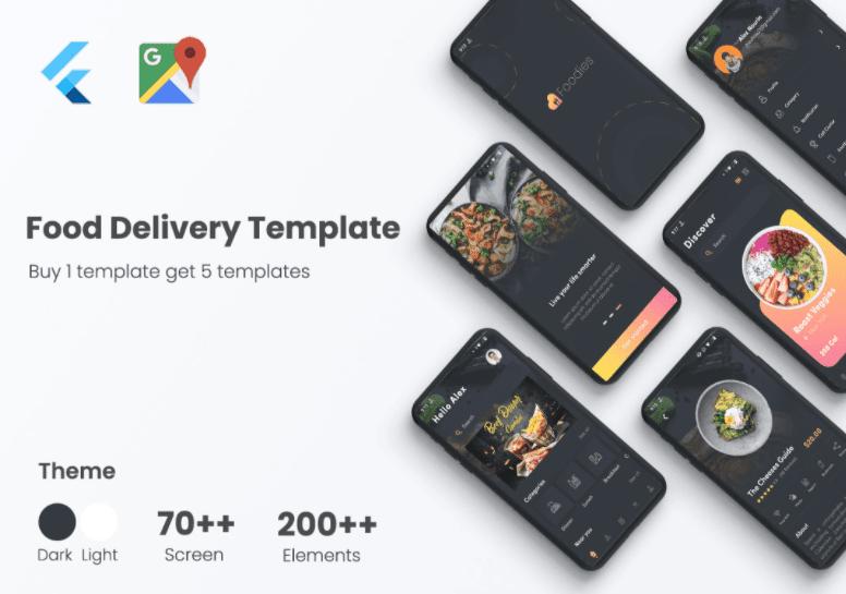 Foodie – Flutter Food Delivery UI Kit