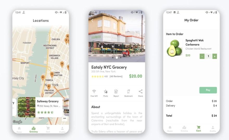 AFlutter Grocery – Bigrocery in Flutter grocery app