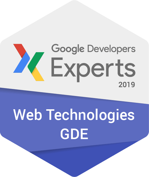 2019 GDE Web Technologies Badge