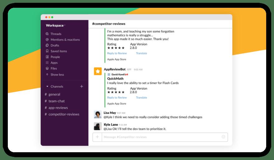 app review bot slack integration
