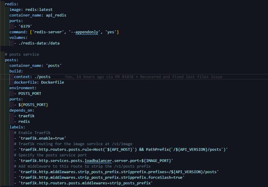 Docker-compose layout